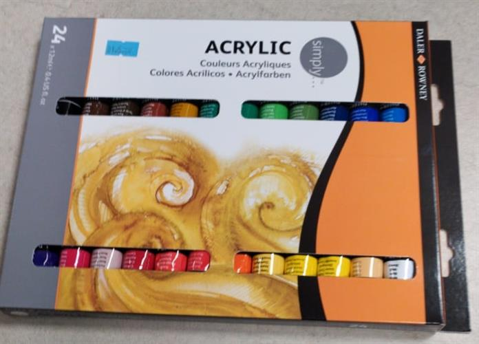 סט של 24 צבעי אקריליק