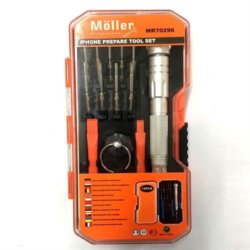 סט מברגים לתיקון פלאפונים כולל סט מברגים לאייפון מבית MOLLER GERMANY