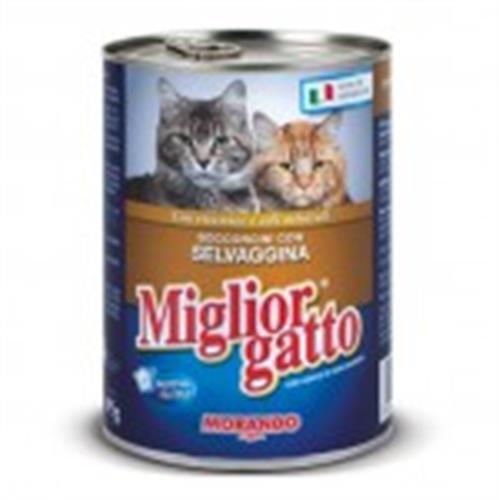 שימור לחתול מיגליאור 405 גרם בטעם בשר ציד
