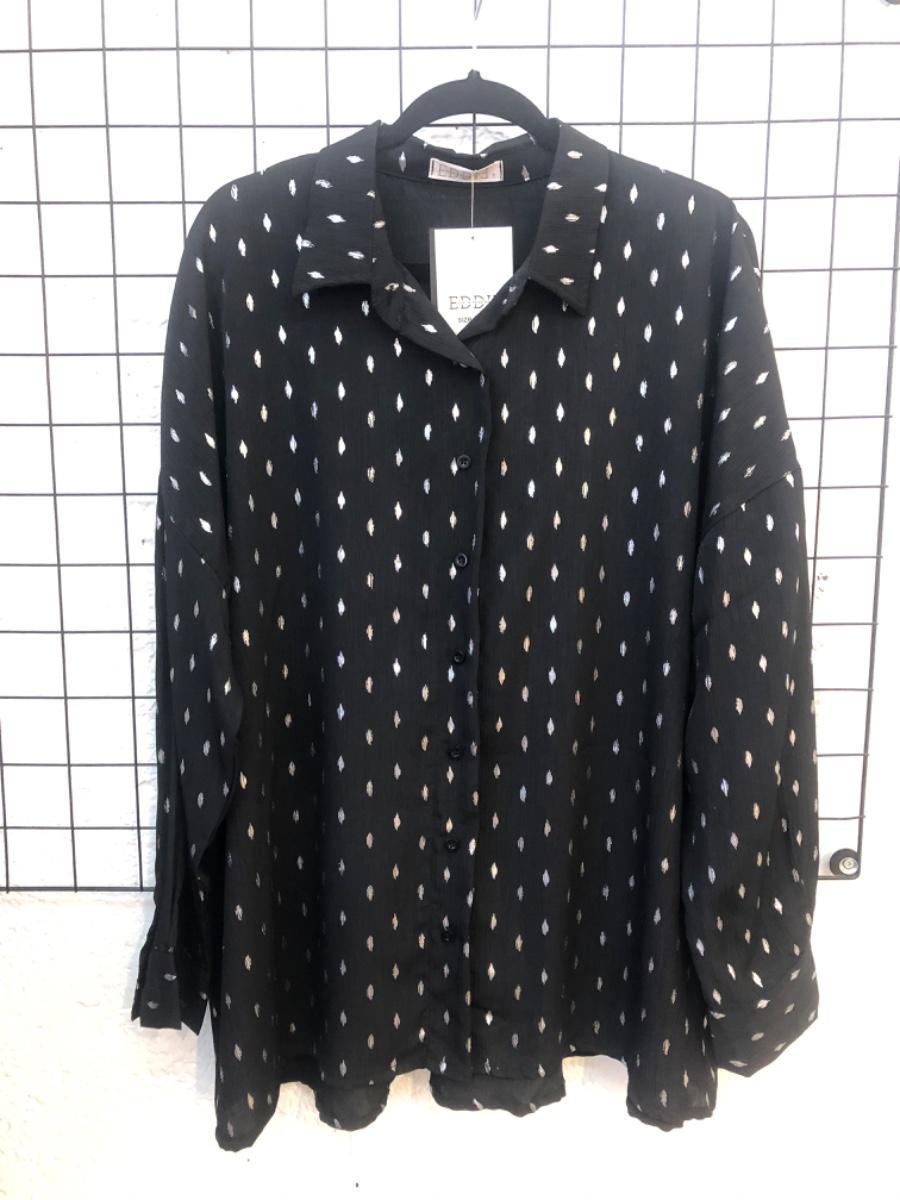 חולצת מיילי שחור כסף