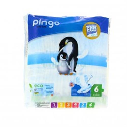 פינגו חיתולים אקולוגיים שלב 6 15-30 קג 32 יחידות ללא כלורין בושם ו pvc