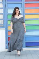 שמלת אוסקר לורקס כסוף
