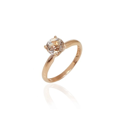 טבעת זהב 14 קרט ואבן מורגנייט