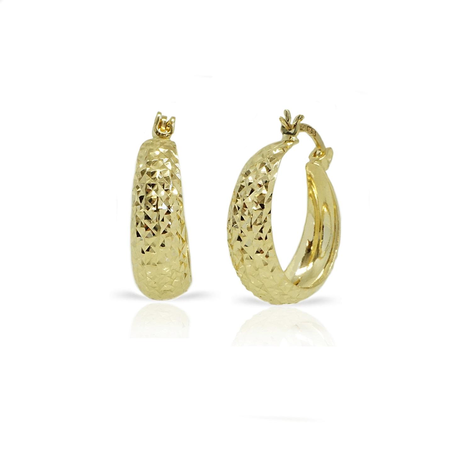 """חישוק זהב מעוצבים עם חריטת לייזר 2 ס""""מ"""