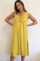 שמלת קשירה צהובה