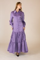 שמלת מקסי סאטן