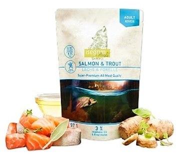 מזון טבעי טרי רך ומבושל דגי סלמון ופורל 410 גרם