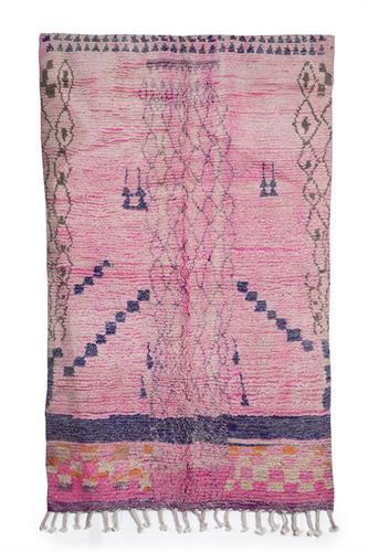 שטיח ברברי ורוד