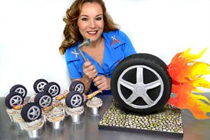 CAR TYRE TEXTURE MAT | CAR TYRE BIRTHDAY CAKE | CAR TYRE FONDANT PATTERN