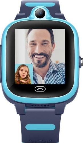שעון GPS לילדים KIDIWATCH Video - רשת 4G, שיחות וידאו, רצועה צבעונית ועוד - תכלת!