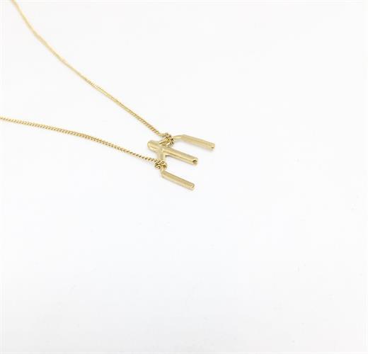 שרשרת עצמות קטנה זהב