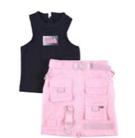 סט אופנה טופ וחצאית נערות מידות 6-16