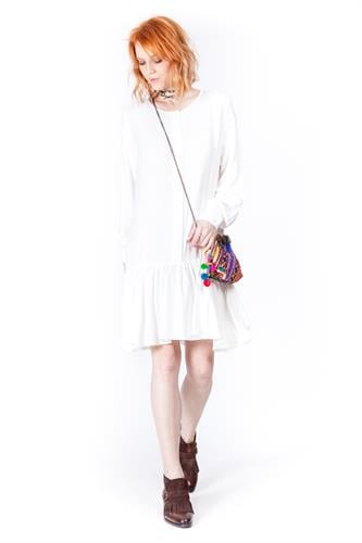 שמלה אמנדה לבן