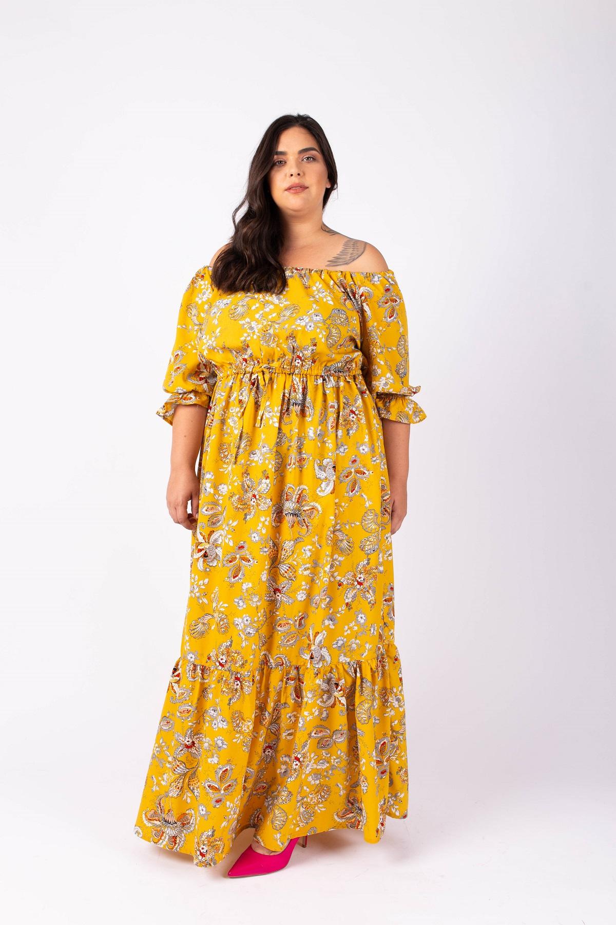 שמלת ג'יזל צהובה