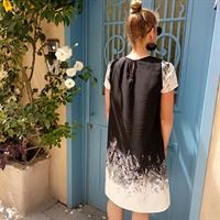 שמלת אמבר הדפס מדורג