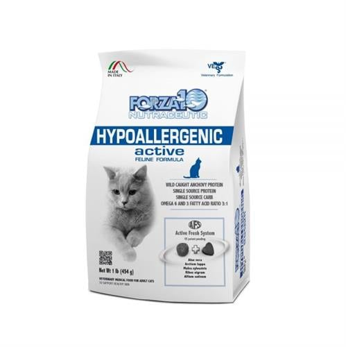 """מזון רפואי לחתולים פורזה אקטיב HIPOALLERGENIC  מ 4.54 ק""""ג"""