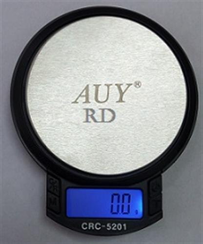 "משקל כיס דיגיטלי 0.1-500 עגול קוטר 8 ס""מ"