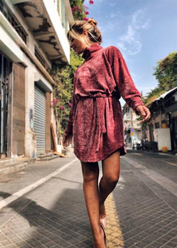 שמלת אירה בורדו