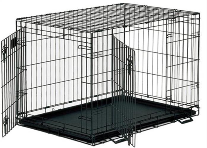 כלוב רשת לגורים שתי דלתות 61 סמ