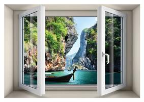 חלון בנישה חופשה בתאילנד