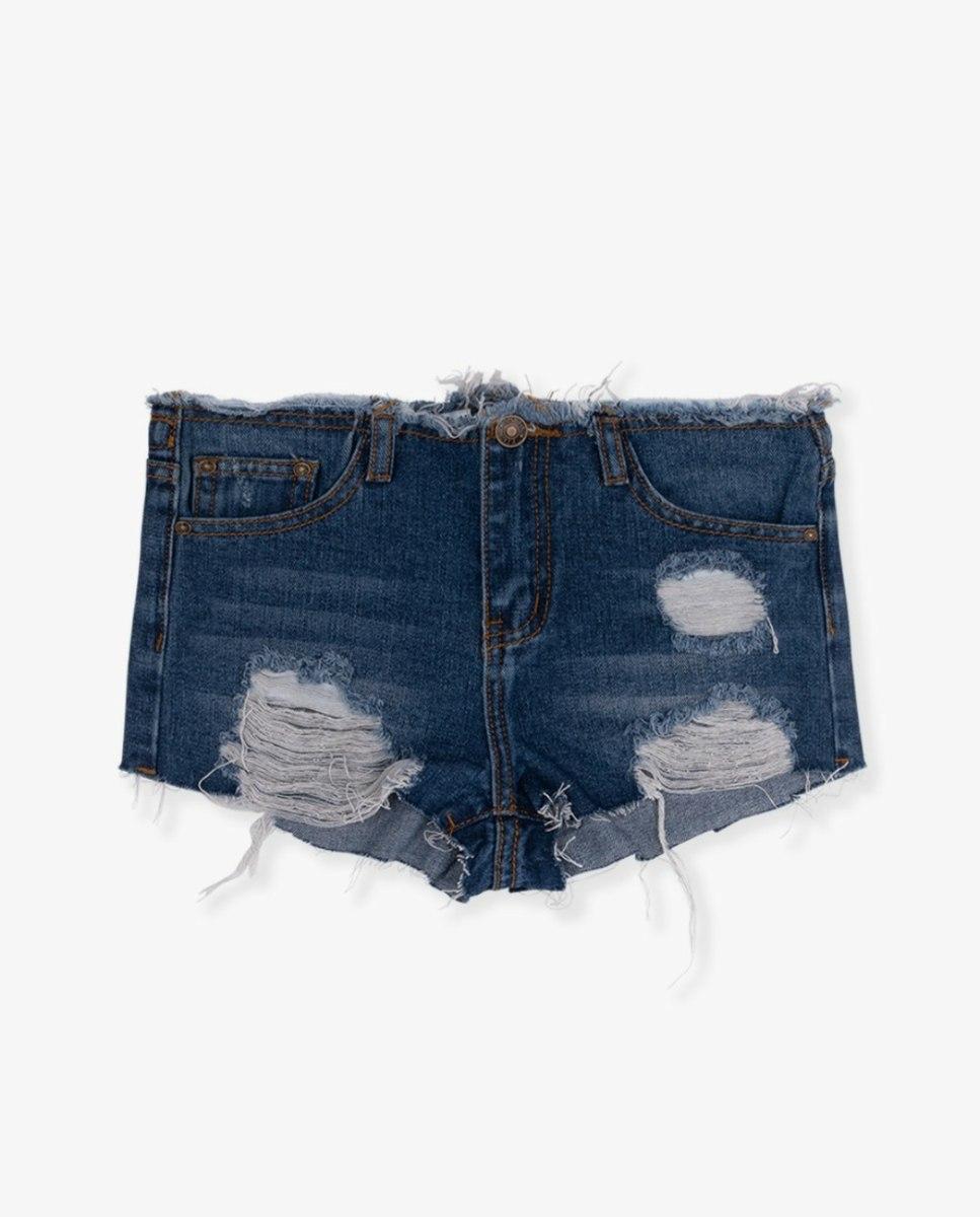 שורט ג'ינס גזור כהה (4-16) FILA