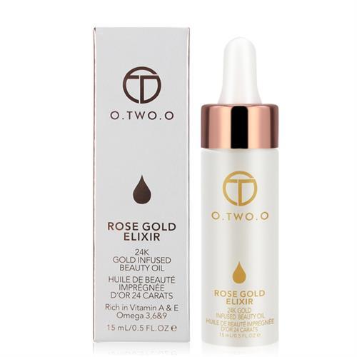 רוז זהב Elixir  שמן עבור השפתיים והפנים- O.TWO.O