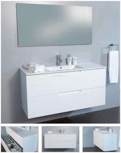 סטרייט ארון אמבטיה תלוי 2 מגירות