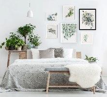סט תמונות לחדר שינה מודרני
