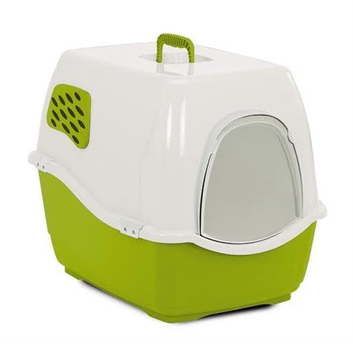שירותים לחתול ביל 1 ירוק כהה עם מסנן