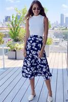 חצאית מעטפת פרח וינטג' קטן