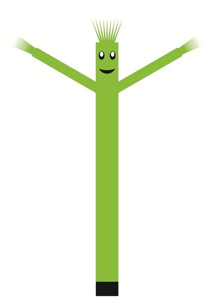 בובת דנסר רוקדת בגובה 6 מטר - צבע ירוק בהיר