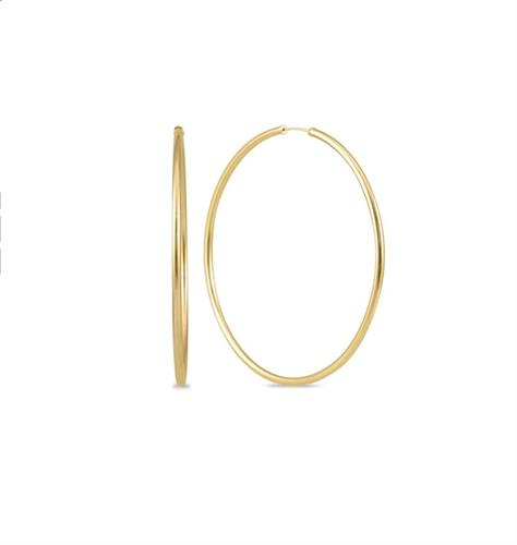 עגילי חישוק 6.0 .סמ מזהב אמיתי 14 קאראט