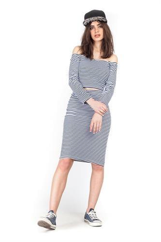 חצאית אודרי פסים