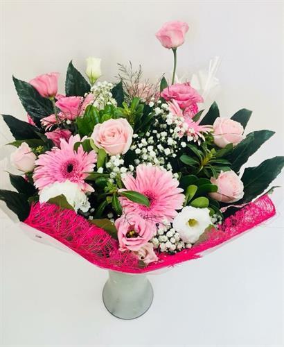 זר פרחים ורוד-מקט 005