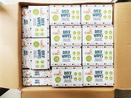 מגבוני אונלי וויפס - ארגז אריזות מילוי קרטון - ללא פלסטיק