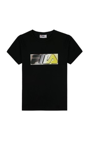 טישרט שחורה לוגו צבעוני (2-16) FILA
