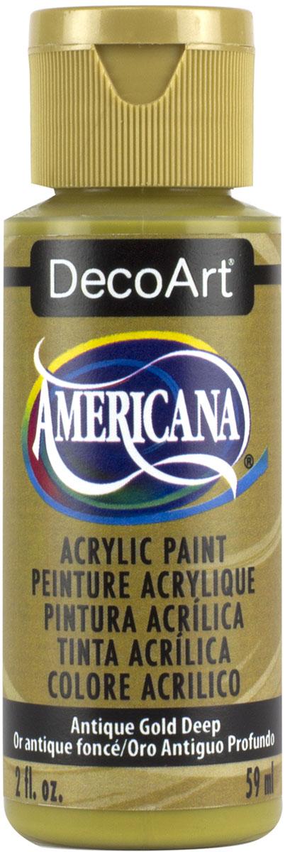 """צבע אמריקנה 59 מ""""ל Antique Gold Deep DA146"""