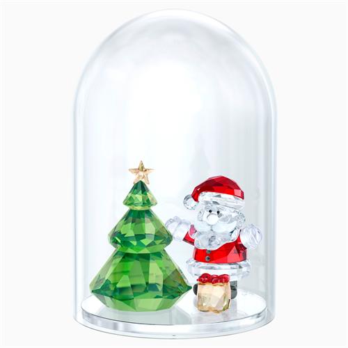 קריסטל SWAROVSKI  BELL JAR - CHRISTMAS TREE & SANTA