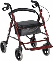 רולטור 4 גלגלים עם רגלית