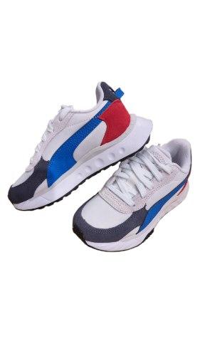 נעלי PUMA לבן בשילוב כחול אדום (21-35)