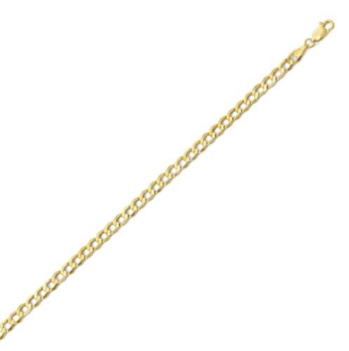 צמיד זהב - צמיד חוליות קארב 4.45 ממ רוחב -  18.0 סמ אורך