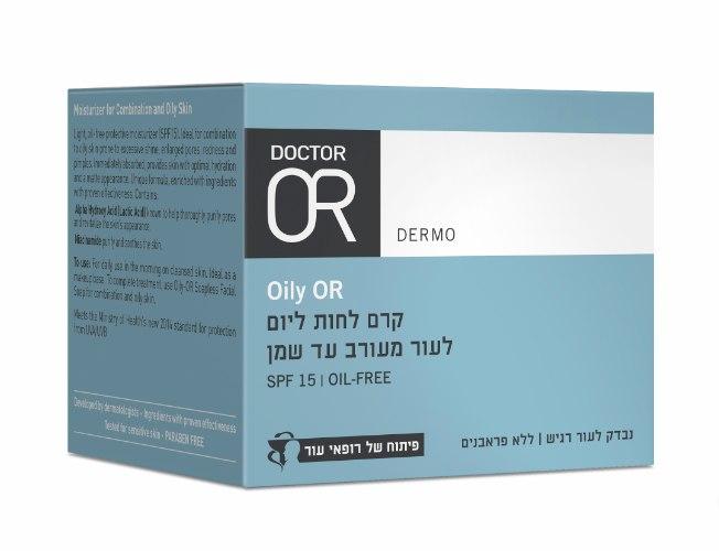דר עור Oily OR קרם לחות ליום לעור מעורב עד שמן עם מקדם הגנה  SPF 15