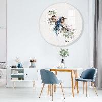 תמונה של ציפור כחולה לסלון
