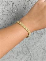 צמיד צמה לאישה זהב 14 קראט