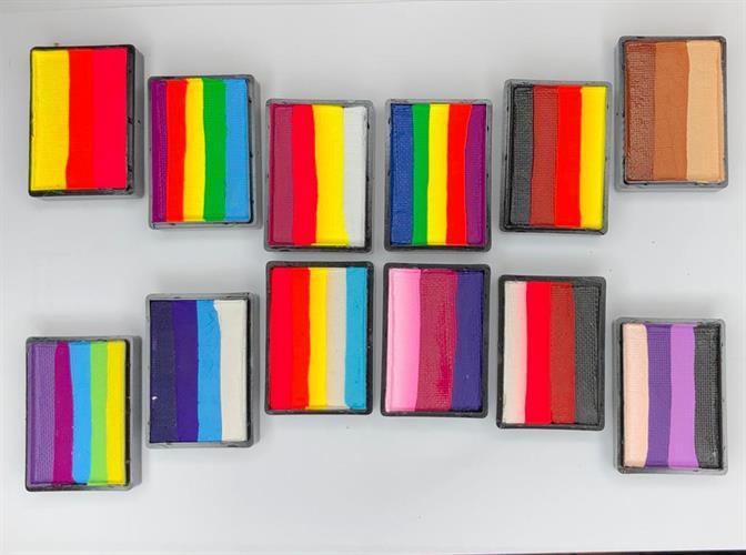 קשתות צבעים מפוצלים מוגדלים (מחיר לכל יחידה)   cameleon big color block