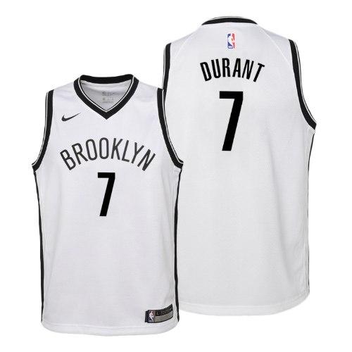 גופיית כדורסל ילדים  ברוקלין לבנה של קיווין דוראנט
