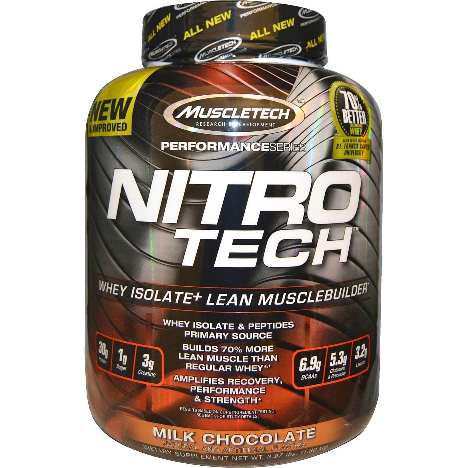 אבקת חלבון נייטרו טק עם קריאטין | NitroTech of MuscleTech