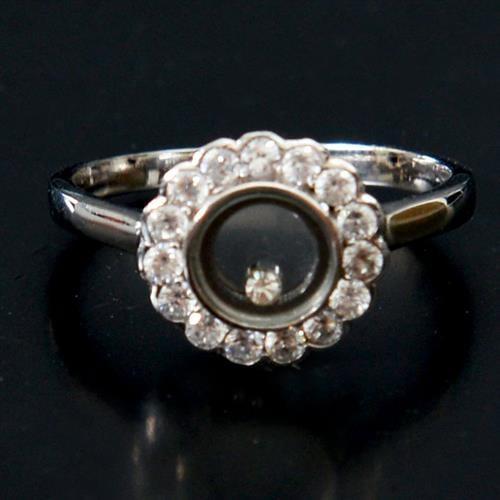 טבעת כסף משובצת זרקונים RG5137