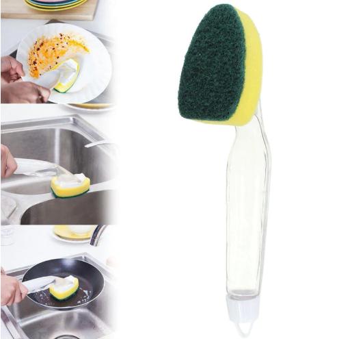 מברשת ניקוי עם מיכל סבון
