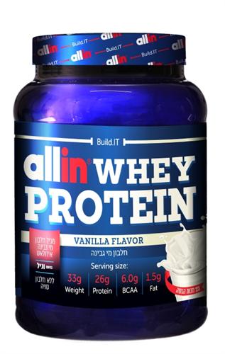 אבקת חלבון אול אין – Allin Whey Protein כשר 750 גרם